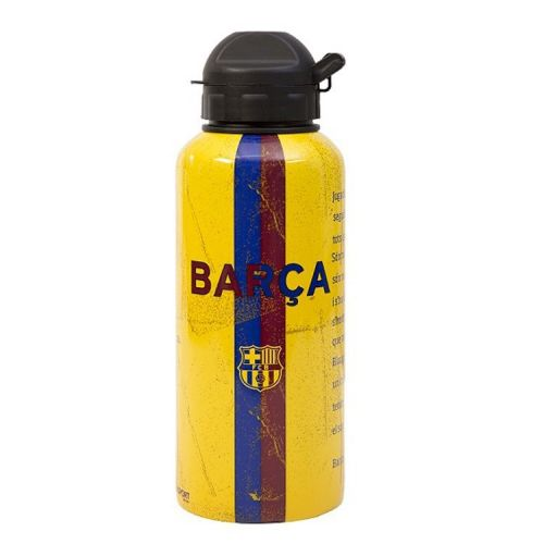 F.C. Barcelona aluminium waterfles geel 400 ml