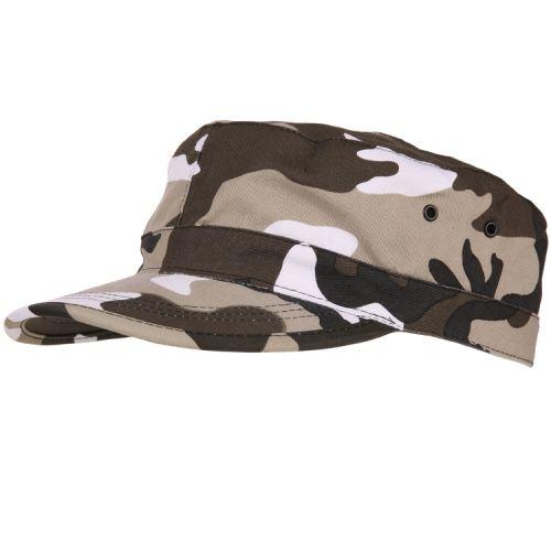 Veldpet camouflage zwart/wit urban