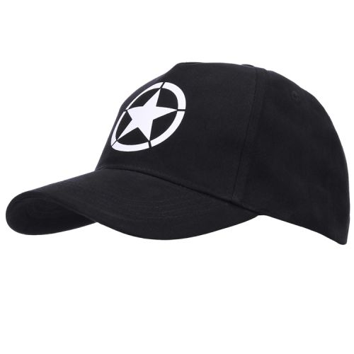 Baseballcap Allied star WWII zwart