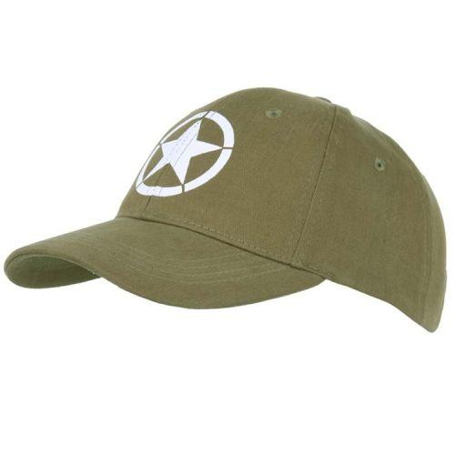Baseballcap Allied star WWII groen