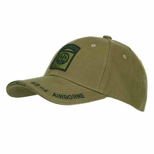 Baseballcap 82nd Airborne groen