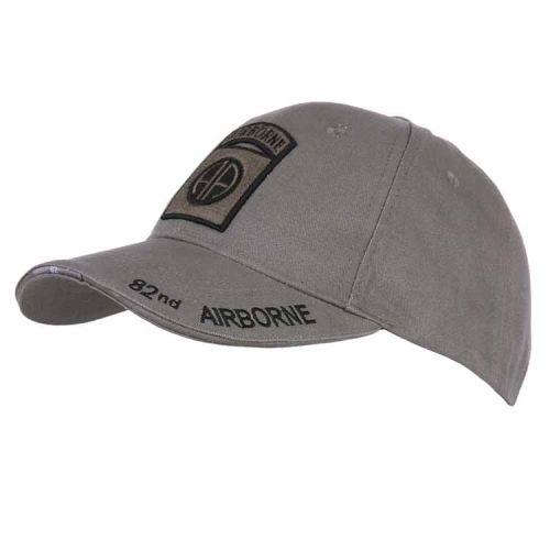 Baseballcap 82nd Airborne grijs