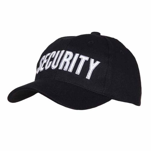 Baseballcap Security zwart