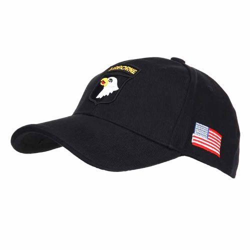 Baseballcap Airborne zwart
