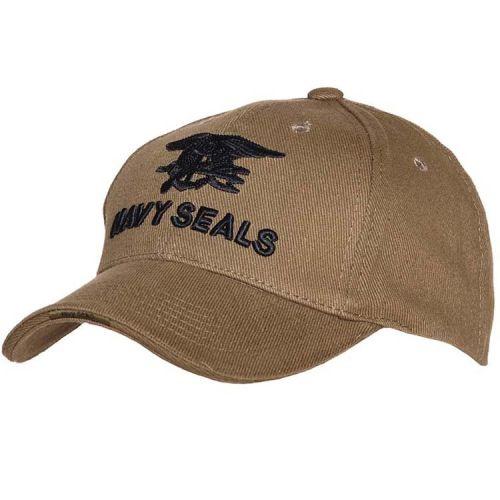 Baseballcap Navy Seals - Groen met zwart geborduurd logo