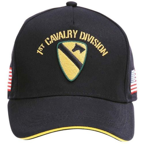 Baseballcap US 1st Cavalry Division - Zwart met Geel logo