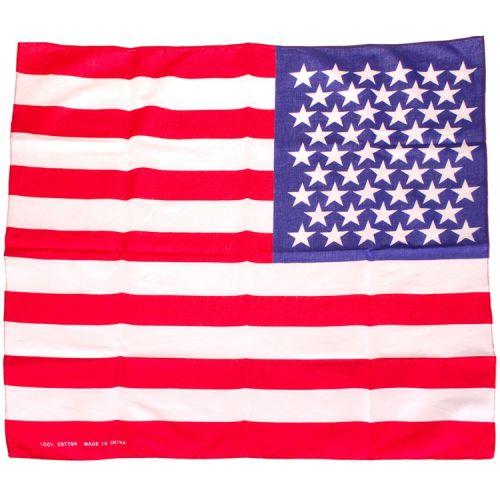 Bandana/Doek Amerikaanse Vlag 50x50