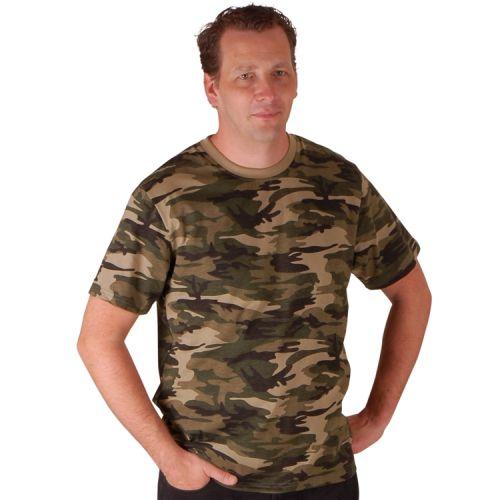 Heren T-shirt camouflage licht