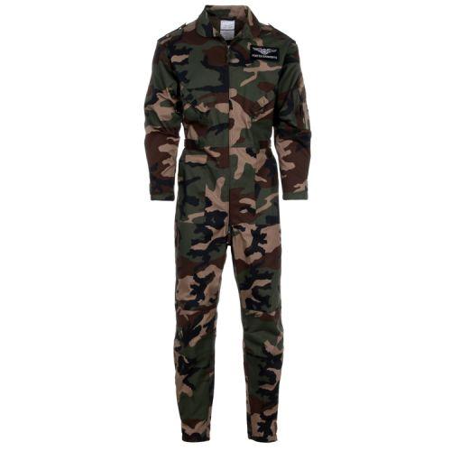 Camouflage overal groen/woodland jongen