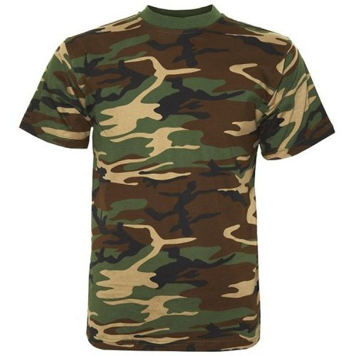 T-shirt camouflage groen/woodland