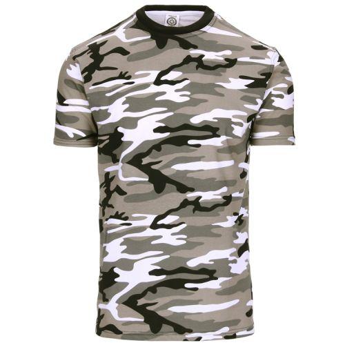 T-shirt camouflage zwart/wit urban
