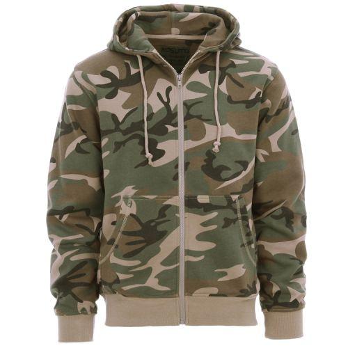 Hoodie/vest camouflage groen/woodland
