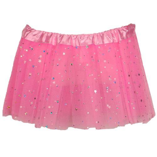 Tutu voor baby/peuter roze met glitters
