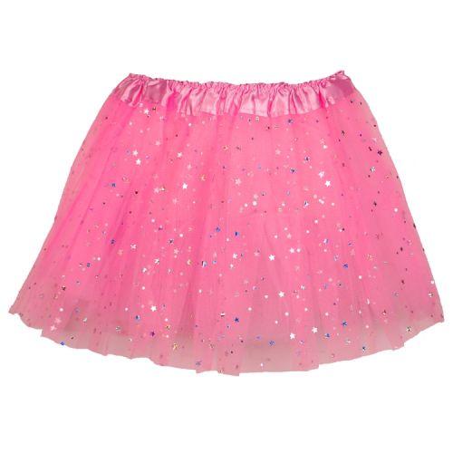 Tutu voor kinderen roze met glitters