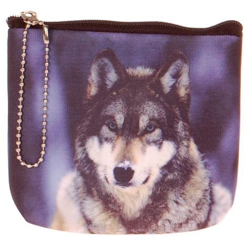 Kleine portemonnee wolf