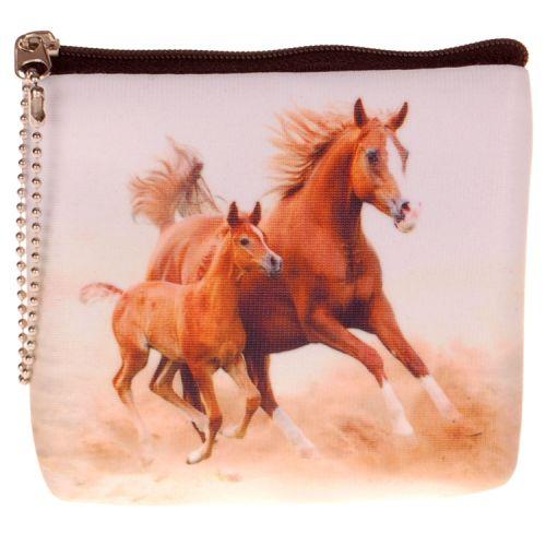 Kleine portemonnee paard met veulen