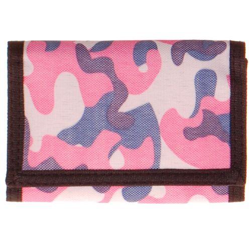Portemonnee camouflage roze/blauw