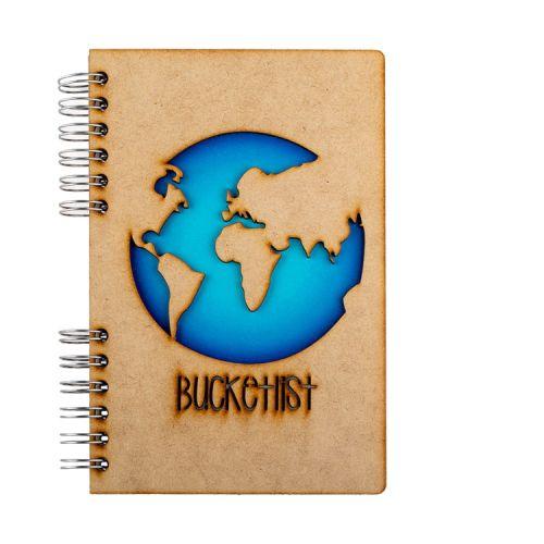 Notebook MDF 3d kaft A6 blanco - Bucketlist