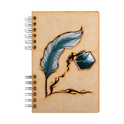 Notebook MDF 3d kaft A6 blanco - Veer en inkt (