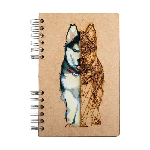 Notebook MDF 3d kaft A6 blanco - Husky