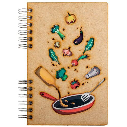 Notebook MDF 3d kaft A6 blanco - Ingrediënten