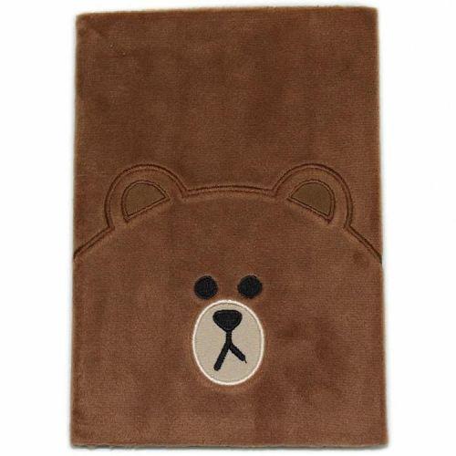 Notitieboek A5 pluche kaft beer gelinieerd