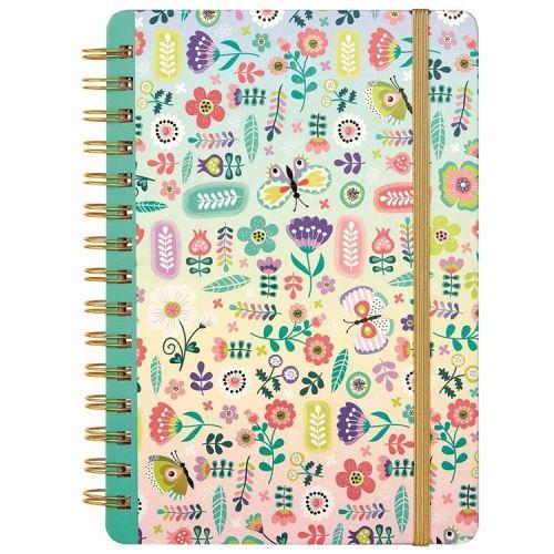 Notitieboek A5 bloemen en vlinders gelinieerd