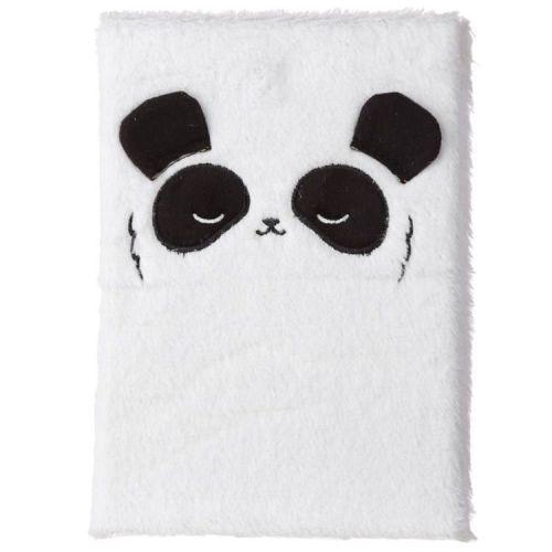 Notitieboekje A5 - Pluche kaft Panda