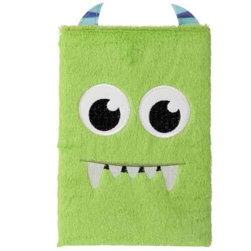 Notitieboekje A5 - Pluche kaft Monstarz groen monster