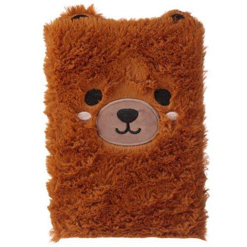 Notitieboekje A5 - Pluche kaft Teddybeer