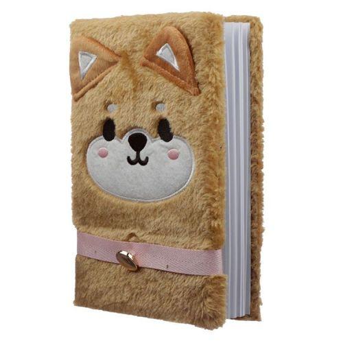 Notitieboekje A5 - Pluche kaft Cutiemals Shiba Inu