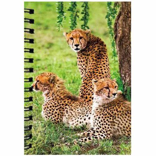 Notitieboekje 3d Cheeta blanco