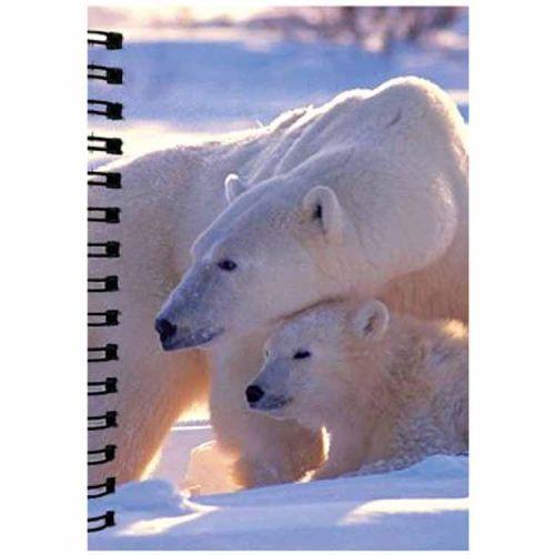 Notitieboekje 3d ijsbeer blanco