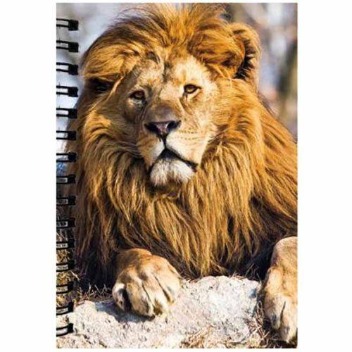 Notitieboekje 3d Leeuw blanco