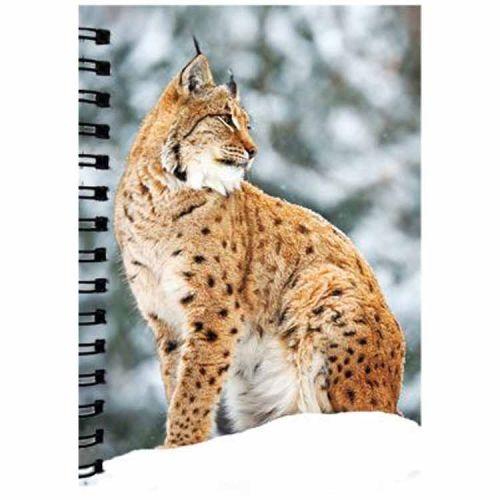 Notitieboekje 3d Lynx blanco