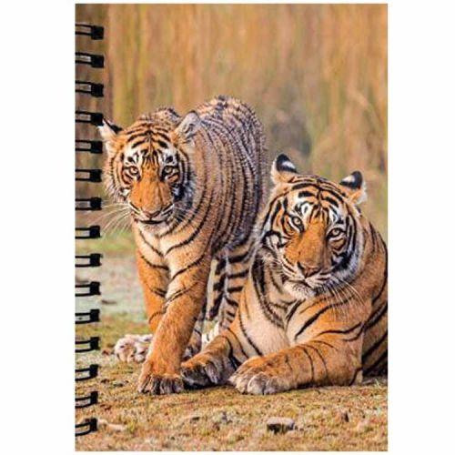 Notitieboekje 3d Tijgers blanco
