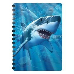 Notitieboekje 3d Haai