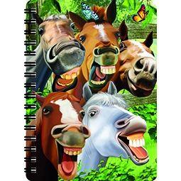 Notitieboekje 3d Paarden