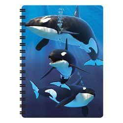 Notitieboekje 3d Orca's