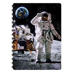 Notitieboekje 3d Astronaut op de maan