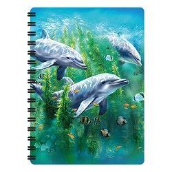 Notitieboekje 3d Dolfijnen