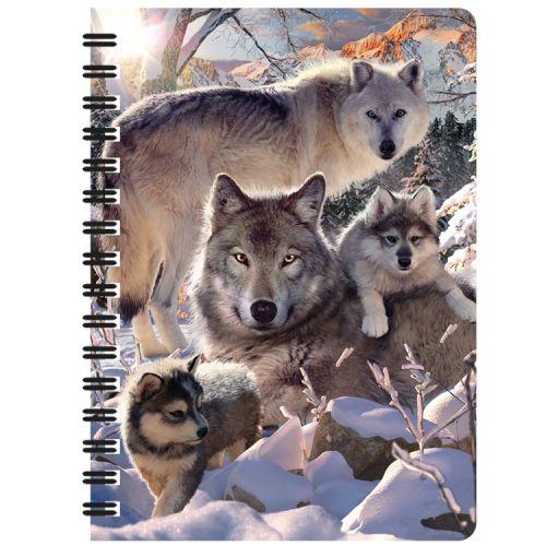 Notitieboekje 3d Wolven