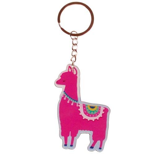 Sleutelhanger roze Alpaca