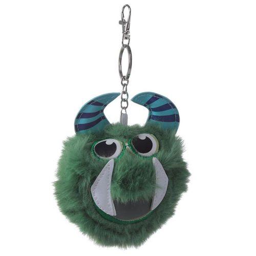 Sleutelhanger pluche pompom Mostarz groen monster
