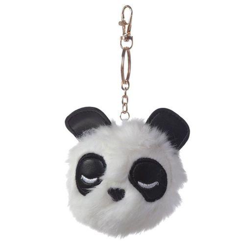 Sleutelhanger pluche pompom Pandarma Panda