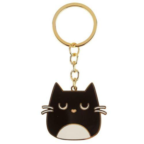 Sleutelhanger emaille Feline Fine Cat