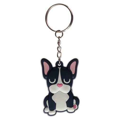 Sleutelhanger PVC Hond zwart Franse Bulldog