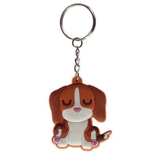 Sleutelhanger PVC Hond bruin