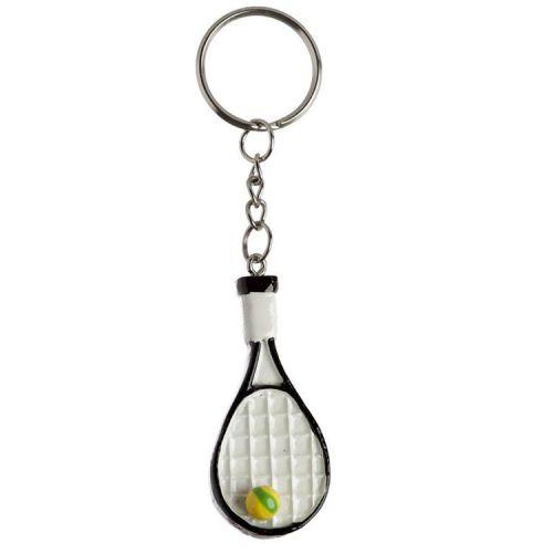 Sleutelhanger Tennisracket met tennisbal