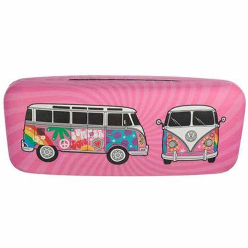 Brillenkoker Volkswagen T1 Kampeerbus roze
